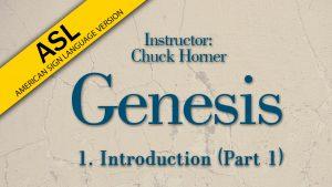 Lesson 1 | Genesis (ASL)