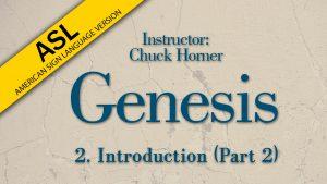 Lesson 2 | Genesis (ASL)