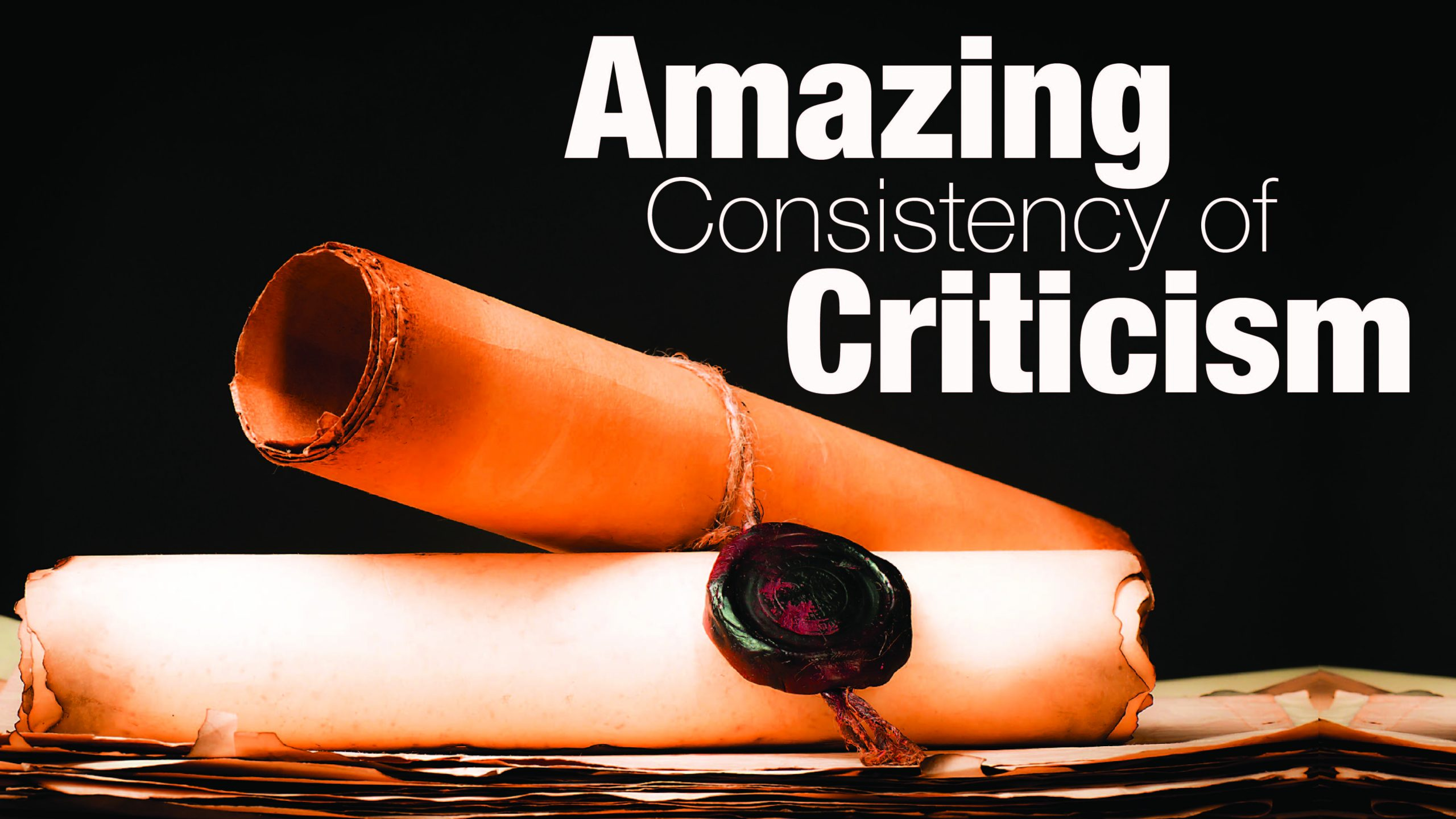 The Bible's Consistency of Criticism