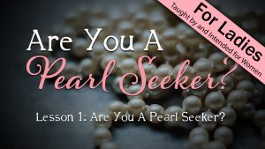 1. Are You A Pearl Seeker?