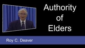 Authority of Elders