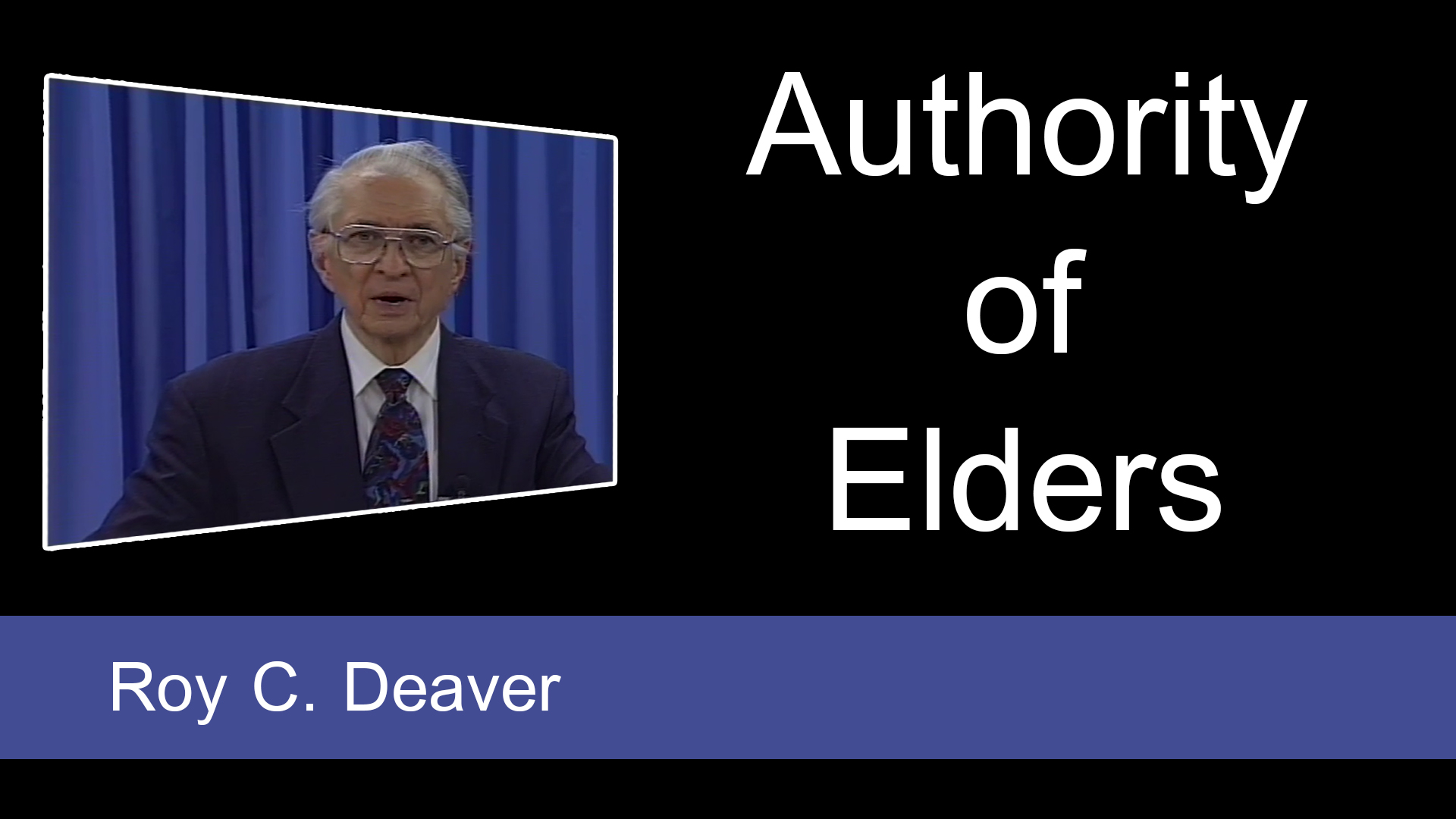 Authority of Elders