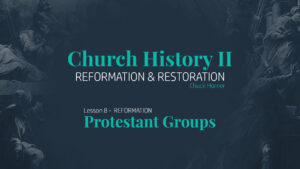 Lesson 8: Reformation - Protestant Groups