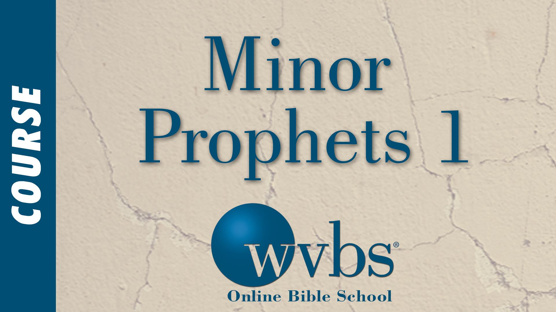 Minor Prophets 1 (Online Bible School)