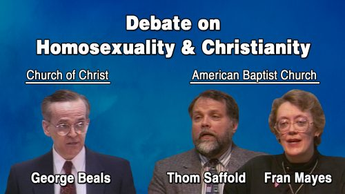 Homosexuality and Christianity Program