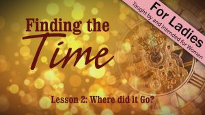 Where Did It Go? | Finding the Time
