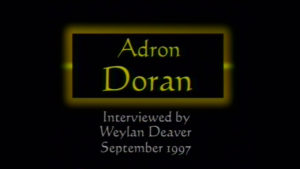 Interview with Adron Doran by WVBS