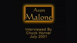 Interview with Avon Malone by WVBS