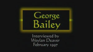 Interview with George Bailey by WVBS