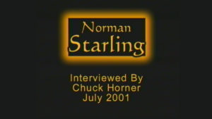 Interview with Norman Starling by WVBS
