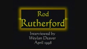 Interview with Rod Rutherford by WVBS