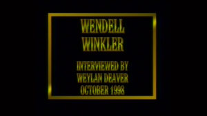 Interview with Wendell Winkler by WVBS