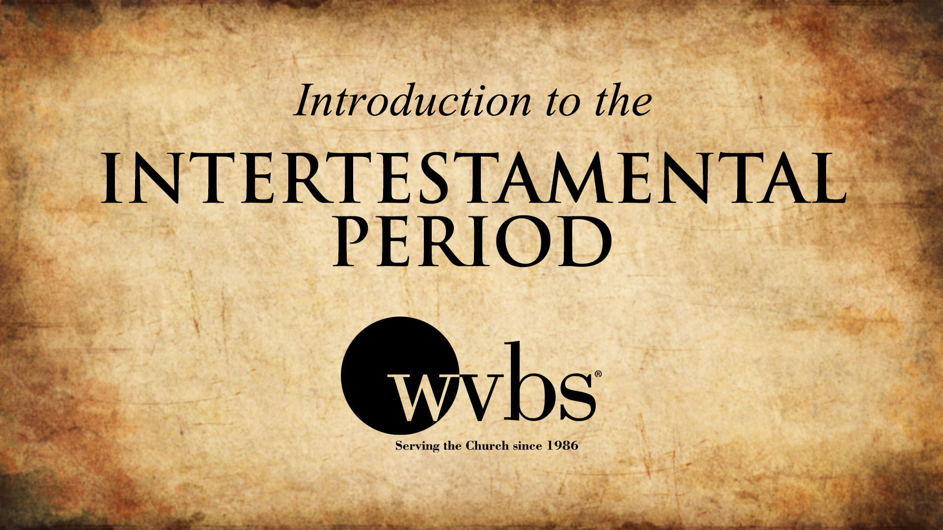 Introduction to the Intertestamental Period