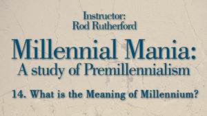 14. What Is the Meaning of the Millennium?   Millennial Mania