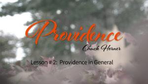Providence: 2. Providence in General