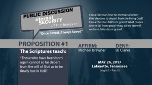 Public Discussion: Eternal Security of the Believer (Night 1 - Part 1)