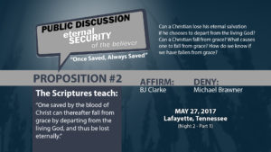 Public Discussion: Eternal Security of the Believer (Night 2 - Part 1)