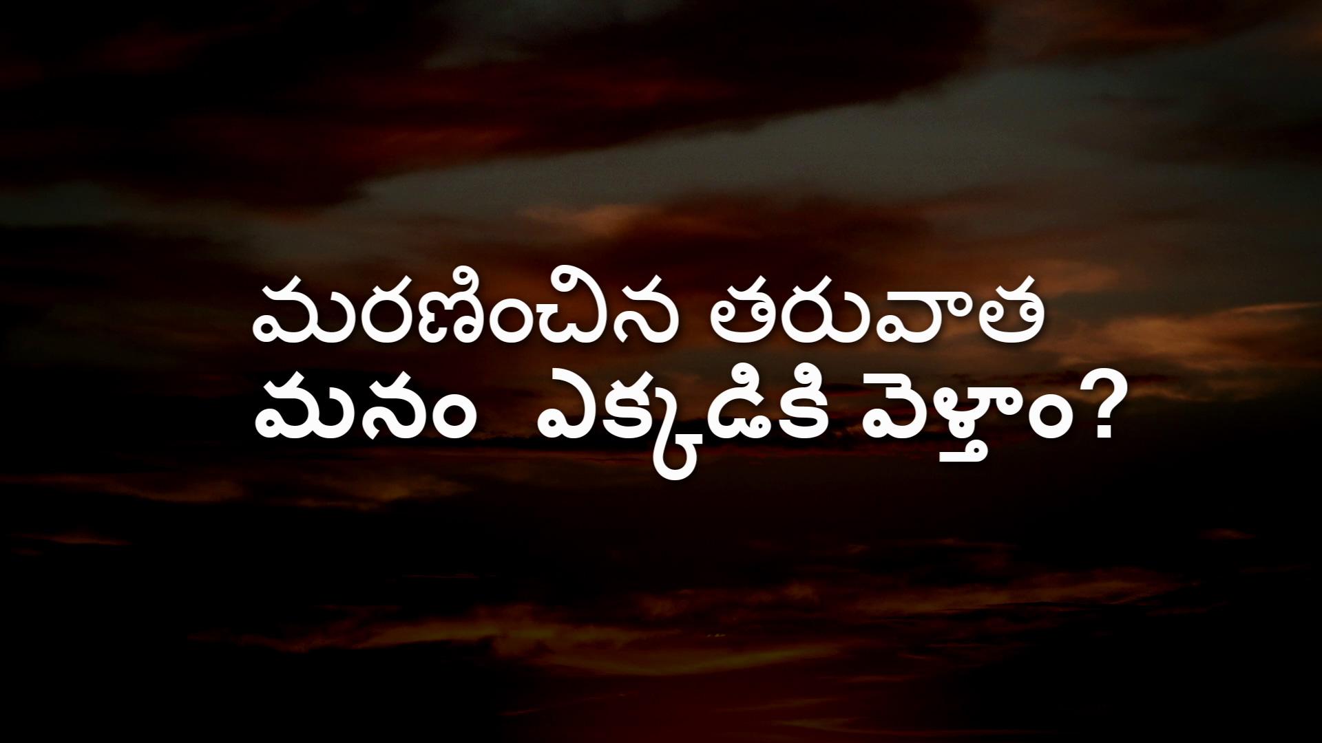 మరణించిన తరువాత మనం ఎక్కడికి వెళ్తాం? (Where Do We Go When We Die?) - Telugu Version