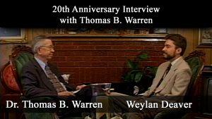 20th Anniversary Interview with Thomas B. Warren | Warren-Flew Debate