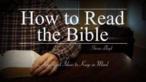 2. Important Ideas | How to Read the Bible